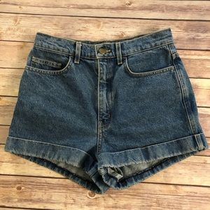 American Apparel || High Waisted Cuff Shorts 29